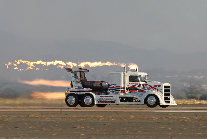 "USA 2011 - MCAS Miramar Air Show - Twilight Show<br /> Shockley's ""Shockwave"" Jet Truck"
