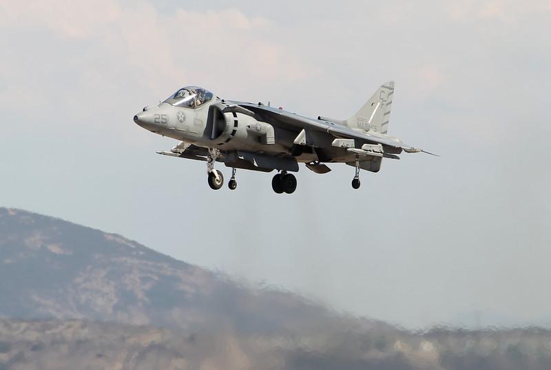 USA 2011 - MCAS Miramar Air Show - AV-8B Harrier<br /> Vertical Take-Off and Landing (VTOL) Demo