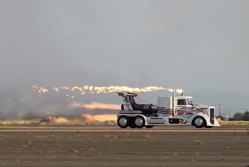 "USA 2011 - MCAS Miramar Air Show - Twilight Show<br /> Shockley's ""Shokwave"" Jet Truck"