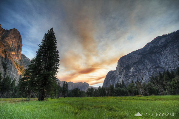 Yosemite before sunset