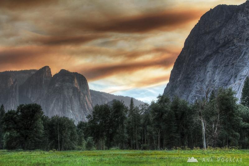 Yosemite before sunset