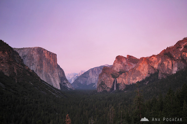 Tunnel View at dusk