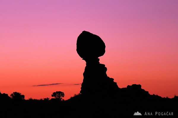 Balanced Rock before sunrise, Arches NP