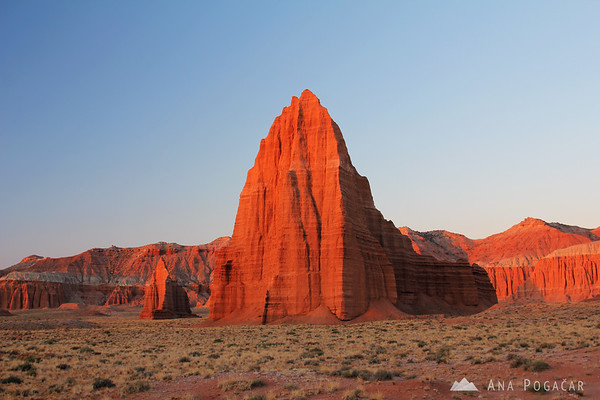 Temple of the Sun at sunrise, Capitol Reef NP