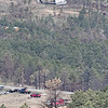 Helicopter delivering mulchFour Mile Canyon burn areaBoulder Newcomers Club Hike