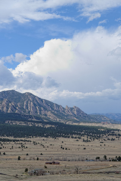 Flatirons from south of Boulder
