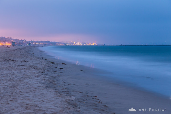Venice Beach during the blue hour
