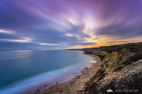 After sunset in Crystal Cove State Park