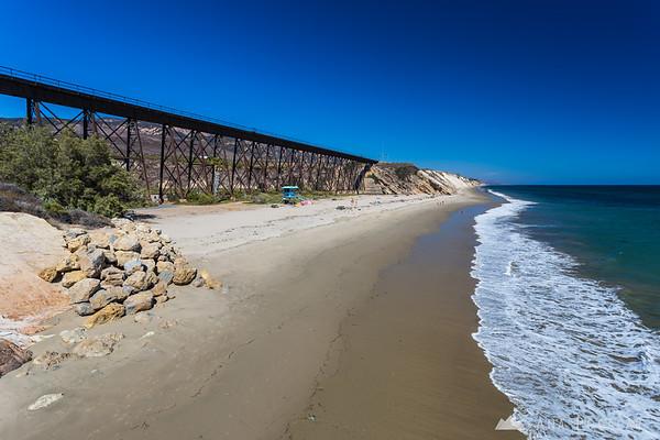 Gaviota Beach SP and the impressive bridge