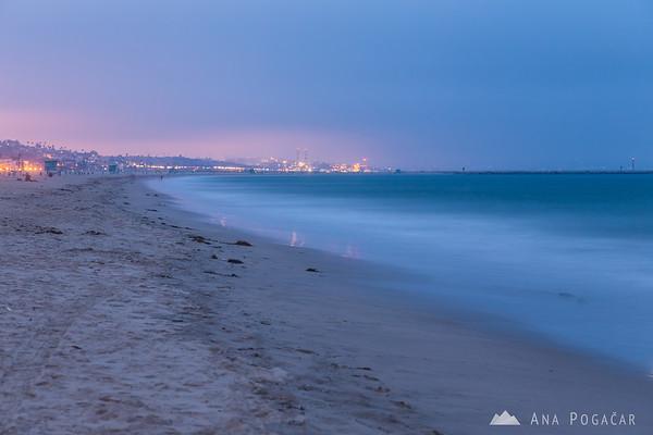 Venice Beach during the blue hour