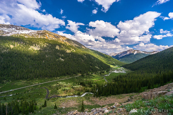 On the road to the Independence Pass, Colorado