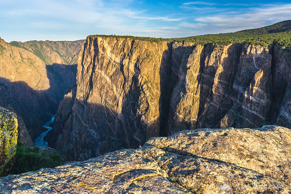 Painted Wall in early morning, Black Canyon of the Gunnison, Colorado
