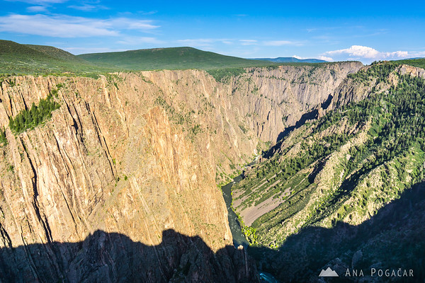 Pulpit Rock in afternoon light, Black Canyon of the Gunnison, Colorado