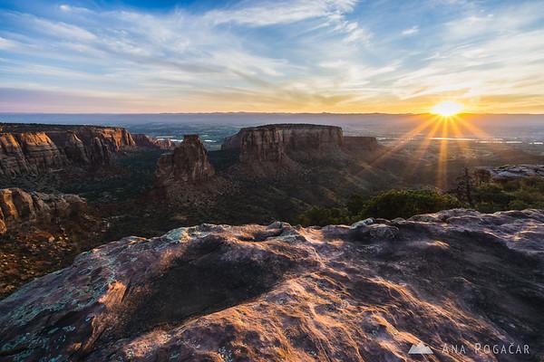 Colorado National Monument at sunrise