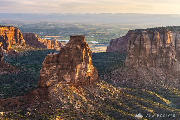 Colorado National Monument at sunrise