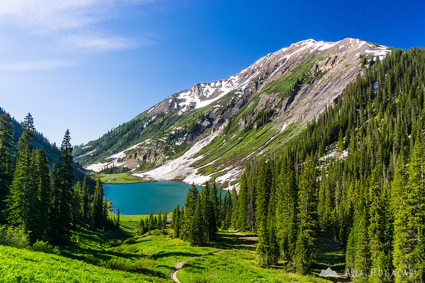 Emerald Lake, just before Schofield Pass on Gothic Road near Crested Butte, Colorado