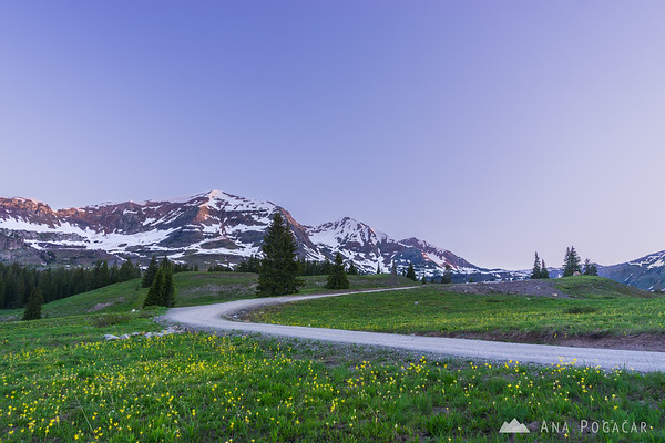 Ruby Peak before sunrise from above Lake Irwin near Crested Butte, Colorado