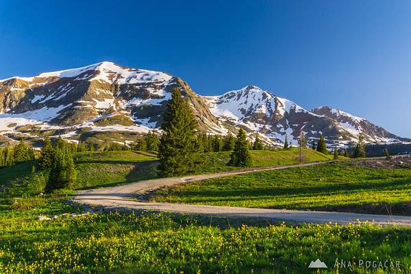 Ruby Peak at sunrise from above Lake Irwin near Crested Butte, Colorado