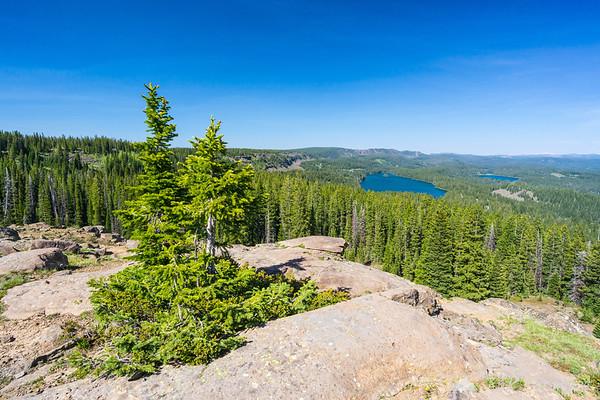 Views towards Island Lake from Land-O-Lakes hiking trail, Grand Mesa