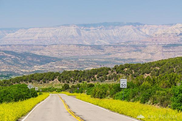 Road towards Mesa, Grand Mesa