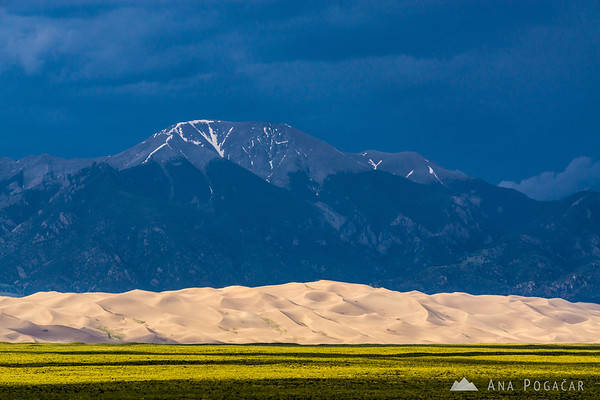 Ominous clouds above Great Sand Dunes NP, Colorado