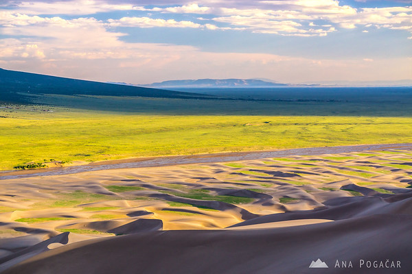 Late afternoon in the Great Sand Dunes NP, Colorado