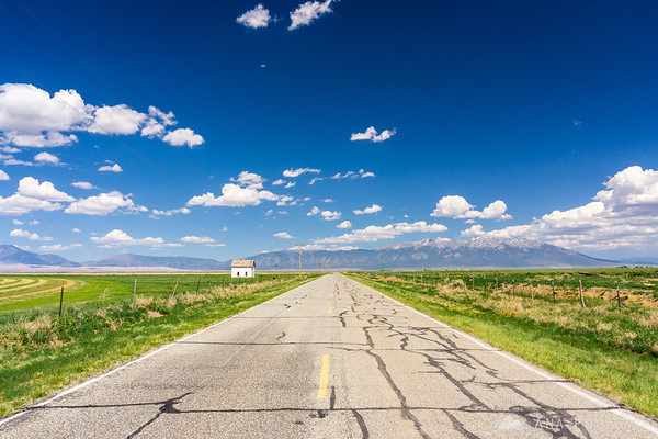 On the road to Great Sand Dunes NP, Colorado