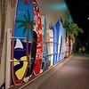 Surfboard storage near Waikiki Beach
