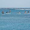 Paddle boarding at Waikiki Beach