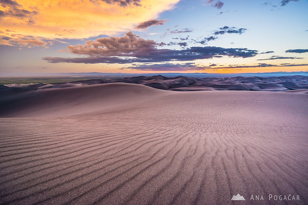 Sunset in the Great Sand Dunes NP, Colorado