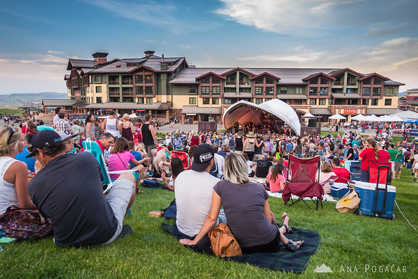 4th of July concert at the Canyons Resort, Park City, Utah