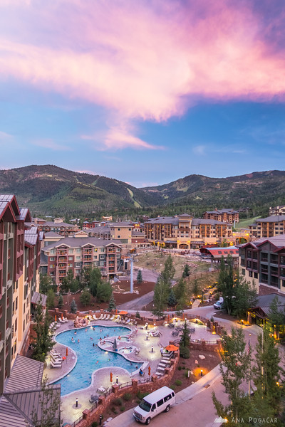 Views from our penthouse suite in the Canyons Resort, Park City, Utah