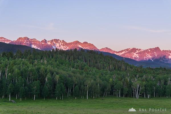 Sunrise in San Juan Mountains, Colorado