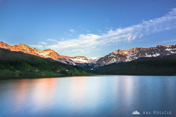 Trout Lake at sunset, San Juan Mountains, Colorado