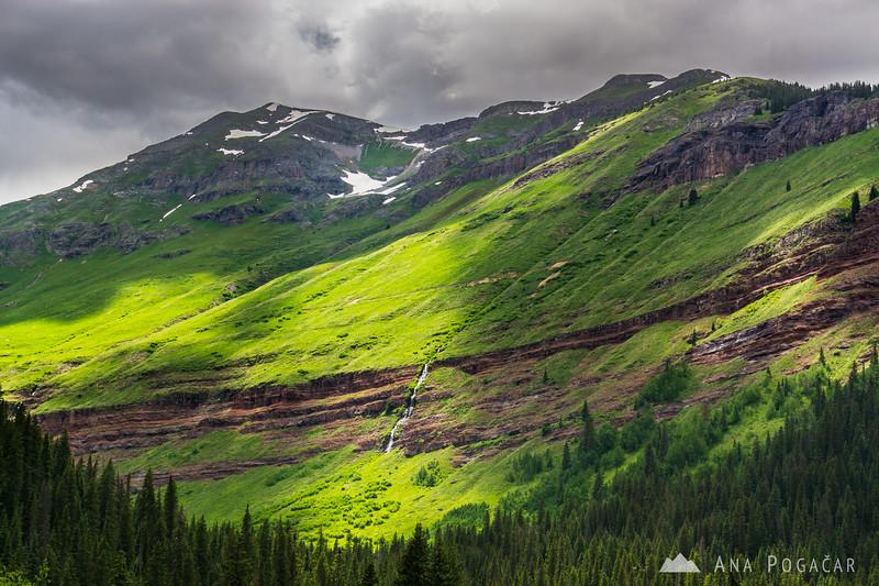 Mountains above South Fork Mineral Creek near Silverton, San Juan Mountains, Colorado
