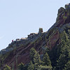 Rock climber on Flatiron #1 BNC hike at Chautauqua