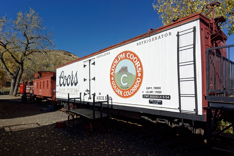 Coors Refrigerator Car No. 5400. The Coors brewery is also in Golden.