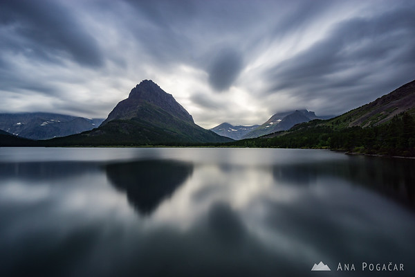 Stormy evening at Swiftcurrent Lake, Glacier NP