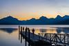 Dawn at Apgar on the shore of Lake McDonald, Glacier NP
