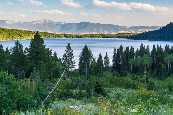 Hiking around Phelps Lake in Grand Teton NP