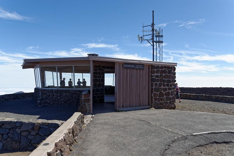 Haleakala volcano summit (10,000 feet elevation)