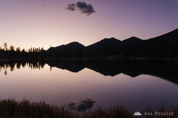 Sprague Lake before sunrise