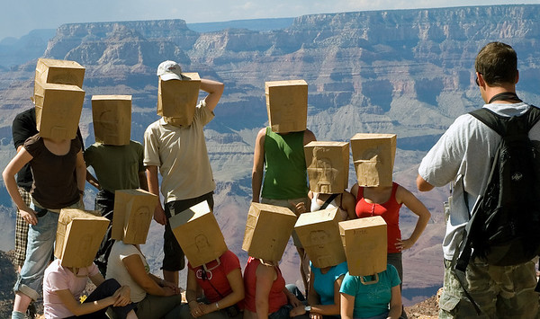 Welcome to the Grand Canyon!!  13 September 2006.  I have no idea what was happening here!