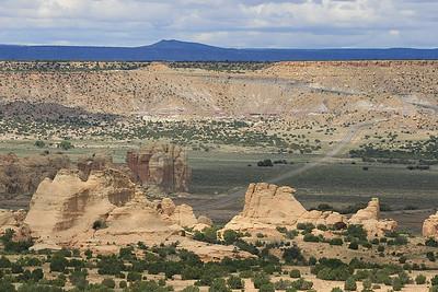 Uitzicht vanaf Acoma Pueblo (Sky City), New Mexico, USA.