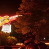 Museum Club giant guitar neon sign, Flagstaff, Arizona Route 66, USA.