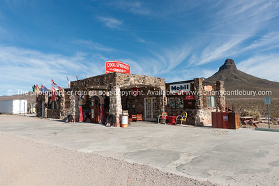 Cool Springs historic restored gas station on Route 66, in Mojave desert, Arizona, USA.