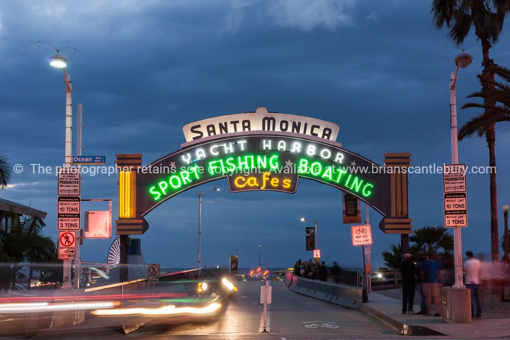 Route 66 The west end, Santa Monica Pier, Los Angeles,California, USA.