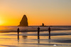 Cannon Beach at sunset