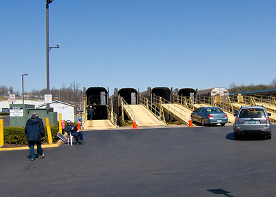 Parking cars on train