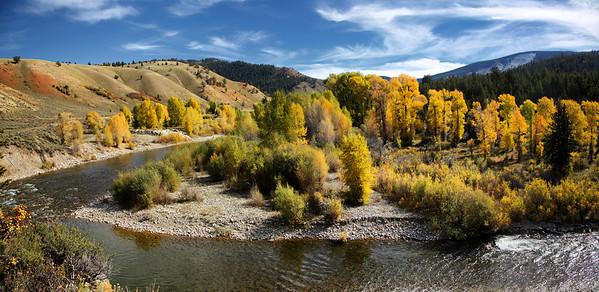 Creek and Fall Foliage